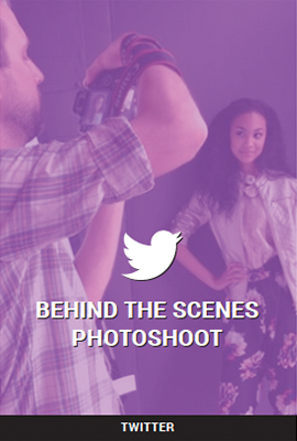 BEHIND THE SCENES PHOTOSHOOT - TWITTER