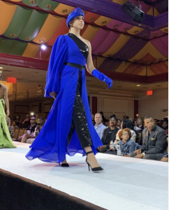 A Barbizon Red Bank model walked for Orlando Caquias in Atlantic City Fashion Week