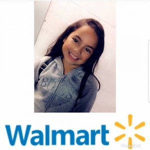 Aaliyah Benitez, Barbizon Socal alum, booked and shot a commercial for Walmart