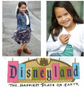 Aaliyah Benitez booked a commercial for Disneyland