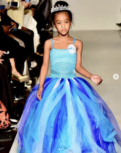 Adrianna & Aasiyah, Barbizon Chique graduates, walked in New York Fashion Week for designer Angel Designer