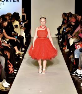 Adrianna, Barbizon Chique grad, walked in New York Fashion Week for designer Angel Designer