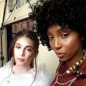 Aliette and Addison, Barbizon Chique alumni, walked the runway at Thomas Jefferson University