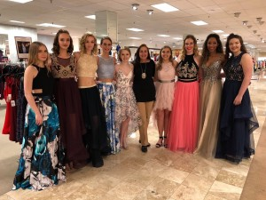 Allison, Graci, Haleigh, Lauren, Hannah, Emily, Tatianna, Rebecca, Kaitlyn, & Josi, Barbizon of St. Louis grads, walked the runway at a Dillard's Prom Fashion Show