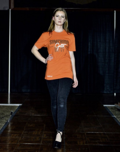Amber Himic walked for SGDI x Youssouph Ndiaye at Kuztown University Fashion Show