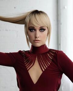 Andrea Susan Bush, Barbizon of Illinois alum, modeled for Ricardo Rojas Hair Care