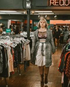 Anna Nygren, Barbizon Southwest alum walked in the Buffalo Exchange Fashion Show