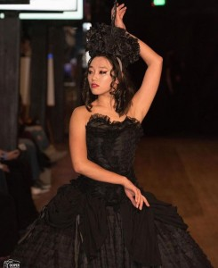 Ansley Mater, Barbizon Southwest grad, walked for Parasite Eve Designs at the Royals Fashion Show