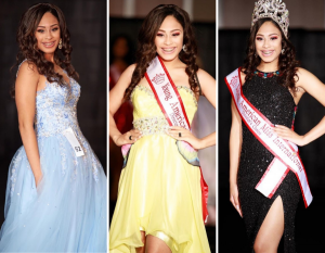 Collage of Arianna Stephens in her crown and sash