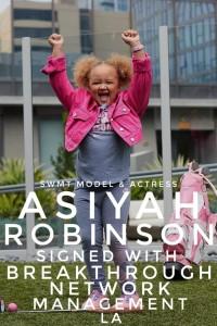 Asiyah Robinson, Barbizon Southwest alum, signed with Breakthrough Network Management