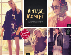 Collage of Nikayla with images of her in vintage clothing styles for her photoshoot