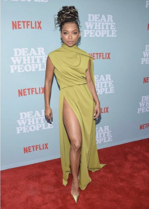 Barbizon Atlanta alum Logan Browning stars in and attended the premier of the second season of Netflix's Dear White People