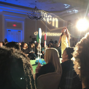 Barbizon Atlanta grad Amber Jones walked the runway for Dillard's in Charlotte, North Carolina