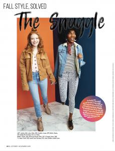 Barbizon Boston grad Carolina Cyck of Model Club Inc. and Barbizon New Carrollton grad Sandra Belle modeled for the October:November issue of Girls' Life Magazine