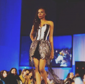 Barbizon Chicago grad Carolina Davis walked the runway for Karina Rivera