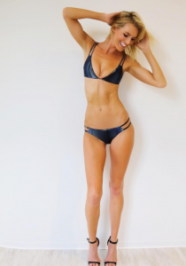 Barbizon Chicago grad Holly Ridings is featured in new swimsuit digitals for Miami Swim Week