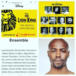 Barbizon Chique alum Caleaf Henson was cast in The Lion King play showing in Bristol