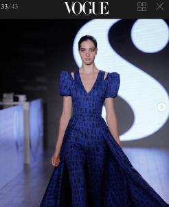 Barbizon Chique alum Liz Seibert walked in New York Fashion Week for Serena Williams