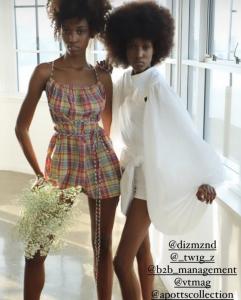 Diamond and Destiny White modeling APOTTS designs in New York Fashion Week