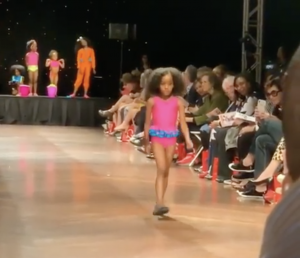Barbizon Chique grad Aasiyah Ruqayyah walked in the Moore College Art fashion show