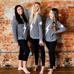 social media promotion with3 models including Alana modeling The Courageous Brand wear