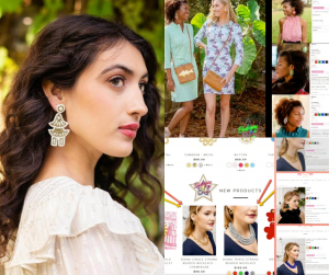 collage of the grads modeling and featured on the website for the Lisi Lerch campaign