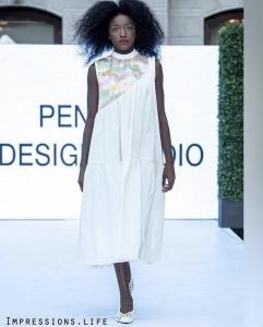 Sarah walking on the runway at Philly Fashion Week