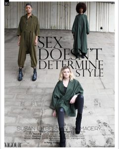 Sanahji, Destiny, and Lindsey modeling in the mentioned campaign for Vigour Magazine