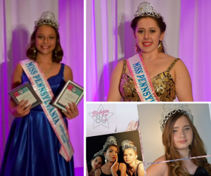 collage of Lelaini, Maddy, and Brelyn wearing crowns and sashes at their pageants