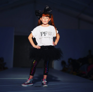 Barbizon Chique kid models walked in the Philly Fashion Week Kids Show