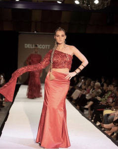 "Barbizon Chique model Lindsey McGraw walked the runway for Dell Scott's ""SIRENS COLLECTION"" at Atlantic City Fashion Week"