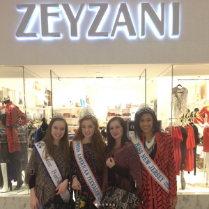Barbizon Chique models booked a modeling job for Zeyzani at the Moorestown Mall