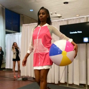 Barbizon Chique models walked in new designs for the Harcum College Fashion and Design