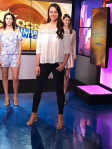 Barbizon Chique models were on FOX 29 modeling designs by La Chic Boutique, Posh Collections, Tish Boutique, and Four Girls