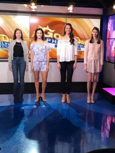 Barbizon Chique models were on FOX 29 modeling designs by La Chic Boutique, Posh Collections, Tish Boutique, and Four Girls2