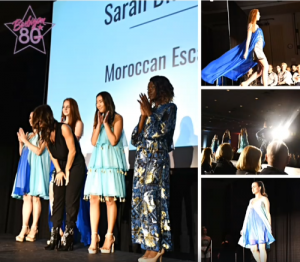 collage of Barbizon Chique students and grads on the runway and on stage at the Synergy Fashion Show