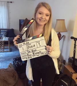 Barbizon Harrisburg grad Samantha Dyer began filming the independent film Hide