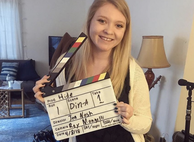 Barbizon Harrisburg grad Samantha Dyer began filming the independent film Hide