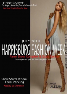 Barbizon Harrisburg model Aleeah Sheedy booked Harrisburg Fashion Week