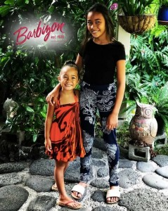 Barbizon Hawaii alum Anelekai and her sister Lily modeled fashions from local designer Wahine Toa