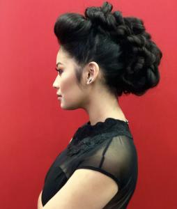 Barbizon Houston alum Jocelyn Sanchez booked a beauty fashion hair show for Sexy Hair at the Ulta Beauty Convention