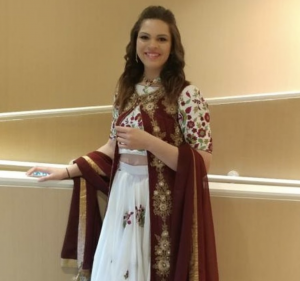 Barbizon Kansas City alum Brianna pratt modeled in the Bollywood Hearts and Fashion runway show in St. Louis 2