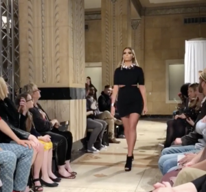 Barbizon Kansas City model Sydney Allard walked the runway for Georgina Herrera MCK Brands at Kansas City Fashion Week