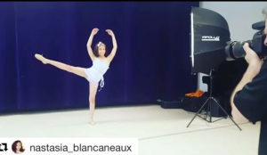 Barbizon Manhatta alum Nastasia Blancaneaux for modeled for Bab Kidz Magazine for Ballerinas Against Bullies