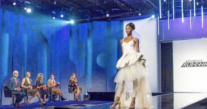 Barbizon Manhattan graduate Janine Tondu modeled on the hit TV show Project Runway