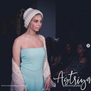 Barbizon Mobile alum Kalee Varga walked the runway in a fashion show for Tiny Designs LLC