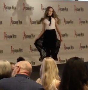 Barbizon New Orleans grad Sophia Sluyter walked the runway for designer JTV in New Orleans Fashion Week