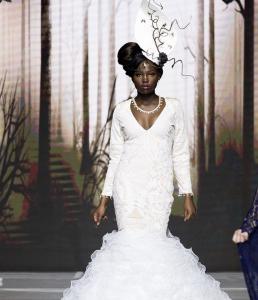 Barbizon Omaha grad Lena White walked in Omaha Fashion Week for fashion designer Agustin M. Delgado