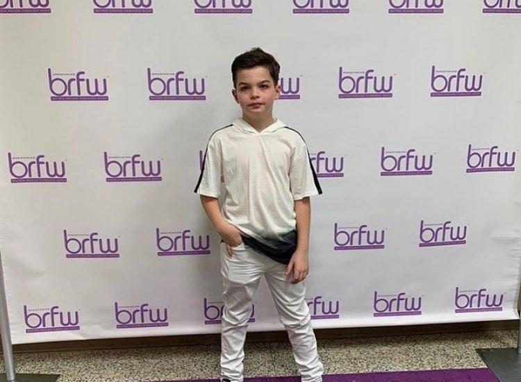 Photo of Austin posing at Baton Rouge Fashion Week