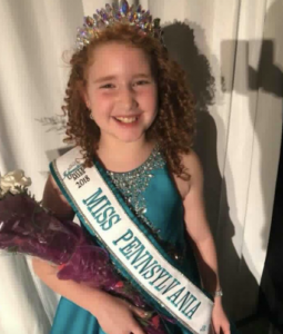 Barbizon PA alum Brianna Moscarell won Miss Pennsylvania Jr. Pre-Teen International United Miss
